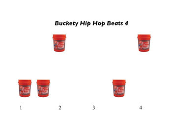 A visual and non traditional chart for hip hop beats on buckets!