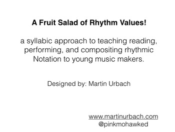 A visual and syllabic approach to teaching rhythmic Notation to young musicians.