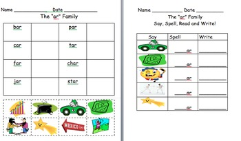 A  vowel word family worksheets