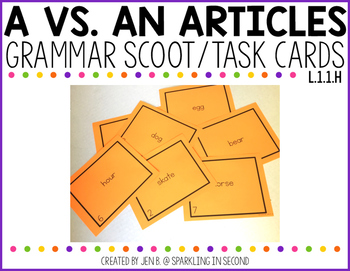 A vs. An Article Scoot