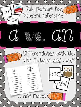 A vs. An: Differentiated Activities, Rules Posters, and More