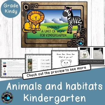 Kindergarten-Animal Themed Cross Curricular Unit