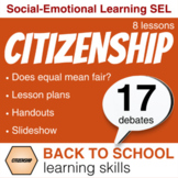 A week of CITIZENSHIP learning skills: Empathy, Fairness, Debate.