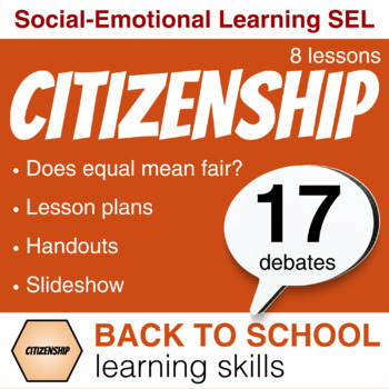 A week of CITIZENSHIP learning skills: Empathy, Fairness, Debate.