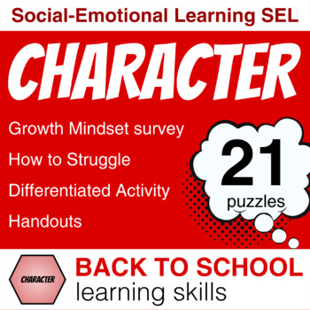 Character Building GROWTH MINDSET Lessons (21st Century Skills for Covid-19)