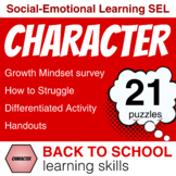 Character Building GROWTH MINDSET Survey / Lessons for END