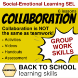 Group Work Collaboration Lessons: Social Emotional Learnin