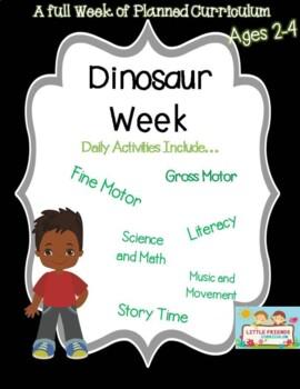 A week of Dinosaur lesson plan for preschool.