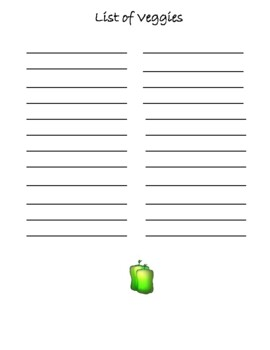 Preschool Lesson Plan Ideas for Fruit and Veggie with Daily Preschool Activities