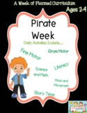 Preschool Lesson Plan Ideas for Pirate with Daily Preschool Activities