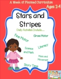 Preschool Lesson Plan Ideas Stars and stripes with Daily Preschool Activities