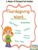 Preschool  Lesson Plan Ideas for Thanksgiving with Daily Preschool Activites