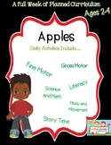 Preschool Lesson Plan Ideas for Apples with Daily Preschool Activities