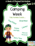 Preschool Lesson Plan Ideas for Camping Theme with Daily Preschool Activities
