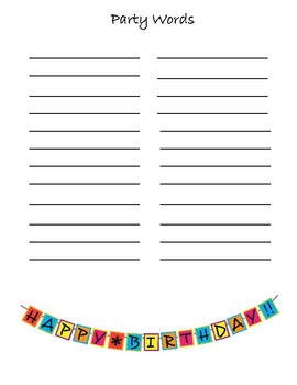 Preschool Lesson Plan Ideas for Party Theme with Daily Preschool Activities