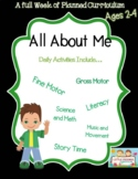 Preschool Lesson Plan Ideas for All About Me with Daily Preschool Activities