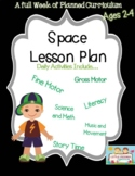 Preschool Lesson Plan Ideas for Space Theme with Daily Preschool Activities