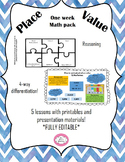 A week's worth of lessons: Place Value Grades 2-5