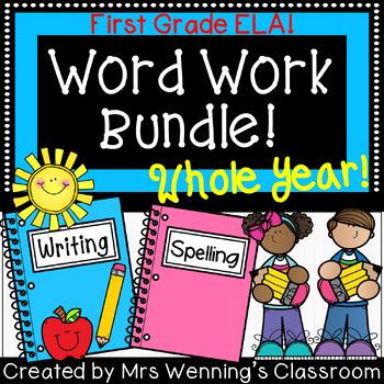 1st Grade ELA Activities & Word Work WHOLE YEAR Mega Bundle!