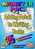 A years worth of Adding Adjectives and Detail to Writing printables  - No prep