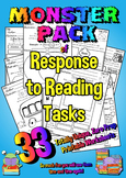 A years worth of Response to Reading Printables  - 33 Unique - No Prep Age 6-10