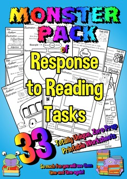 A years worth of Response to Reading Printables  - 33 Uniq