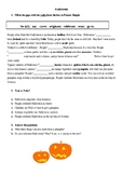 A1-A2 ESL Halloween text in Present Simple