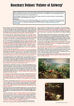 A1 classroom poster – Analysis of Rosemary Dobson, 'Painter of Antwerp'