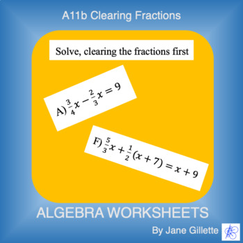 A11b Clearing Fractions