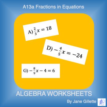 A13a Fractions in Equations