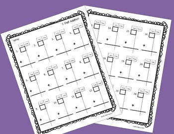 Place Value Frames for Addition and Subtraction Regrouping Practice