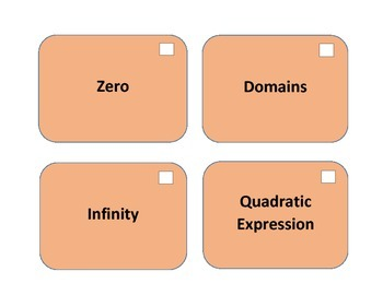 A2: Functions of Algebra Vocabulary Cards: Set 2