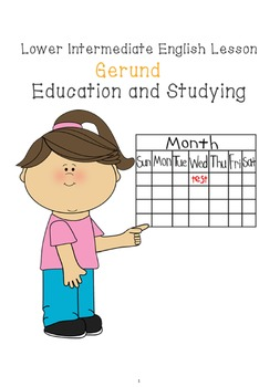 A2 Lower Intermediate ESL lesson plan - Gerund - Education and Studying