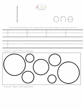 A2Me Preschool Sample Pack!  Introducing: Letter A, Number 1, Blue, Circle