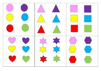 A3 6 shape and colour sort