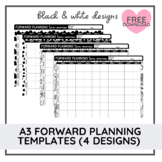 A3 Forward Planning Templates   Black and White   Editable