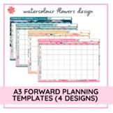A3 Forward Planning Templates   Floral   Editable