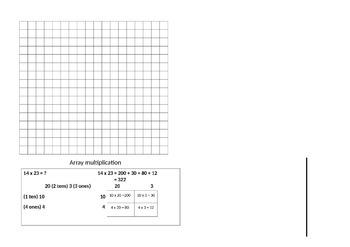 A3 Free Math place mat years 6-8