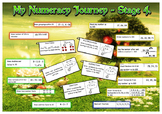 A3 Maths place mats (NZ Numeracy Stages 1-7) Age 5-13 Trac
