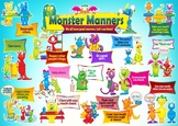 A3 Poster - Monster Manners for Kids