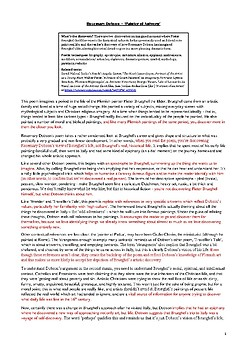 A3 classroom poster – analysis of Rosemary Dobson, 'Painter of Antwerp'