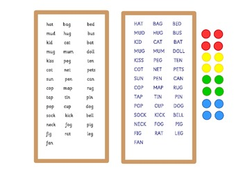A3 size phonics (Letters and Sounds) board game . One board with pictures