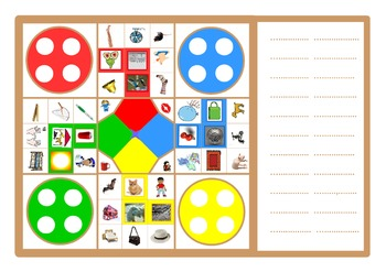 A3 size phonics (Letters and Sounds) board game . One boar