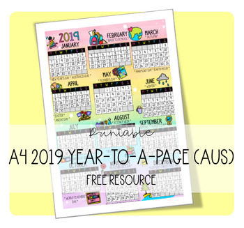 A4 2019 YEAR-TO-A-PAGE