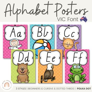 VIC Font Alphabet Posters {Polka Dot}