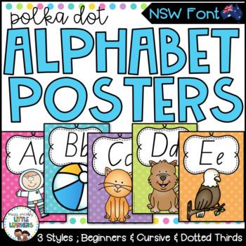NSW Foundation Font Alphabet Posters {Polka Dot}