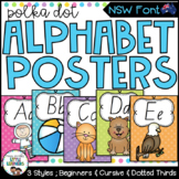 NSW Foundation Font Alphabet Posters {Polka Dot}