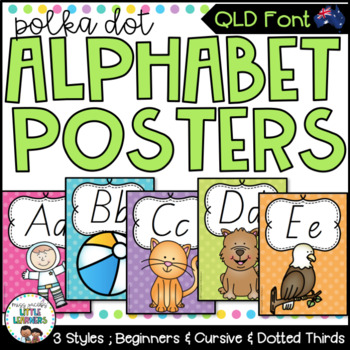 QLD Beginners Font Alphabet Posters
