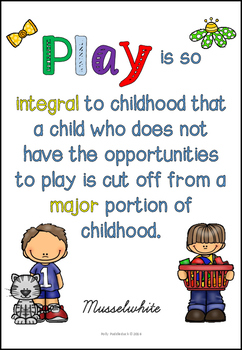 A4 Learning Through Play Posters For Early Years
