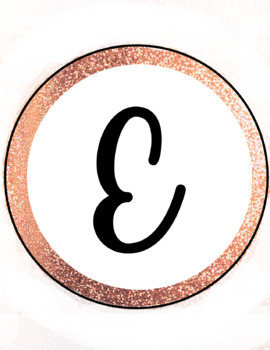 A4 Rose Gold Welcome Back Circle Banner